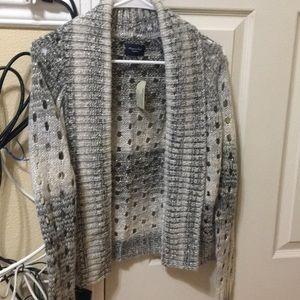 Metallic sweater cardigan